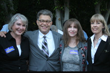 Julia Sweeney, Al Franken, Larraine Newman and Carla Olson